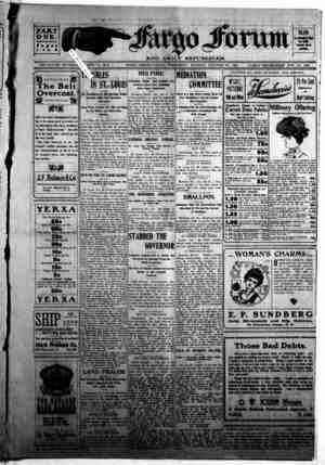 The Fargo forum and daily republican Gazetesi 28 Ekim 1903 kapağı