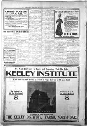NO. 10 Broadway \rv csss [in Donahue Uchter No. 7 Eighth St. S. Fargo DeBeffsKidneyPflb tAffff, v/.-t/( /1 v/- CHRISTIANSON