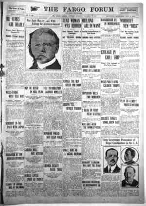v »v Re«ervoir Pag ,! Obnoxious Gas FOBPK ESTABLISHED NOV. 17, 1891. OIL FUMES Mexican Towns Menaced by PRODUCE STMGE...