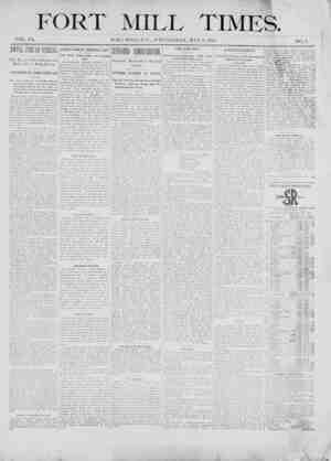 Fort Mill Times Gazetesi 2 Mayıs 1900 kapağı
