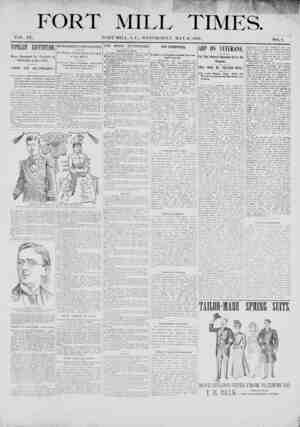 Fort Mill Times Gazetesi 16 Mayıs 1900 kapağı