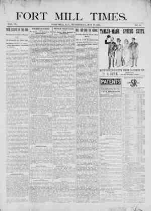 Fort Mill Times Gazetesi 23 Mayıs 1900 kapağı