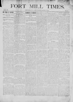 Fort Mill Times Gazetesi 13 Haziran 1900 kapağı