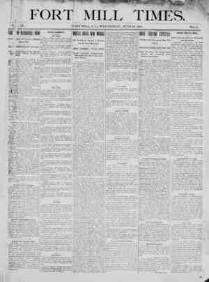 Fort Mill Times Gazetesi 20 Haziran 1900 kapağı