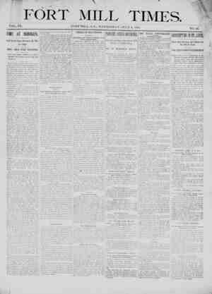 Fort Mill Times Gazetesi 4 Temmuz 1900 kapağı