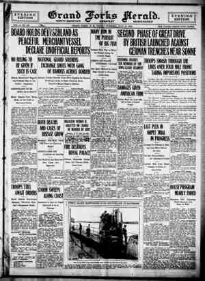 Grand Forks Herald Gazetesi 14 Temmuz 1916 kapağı