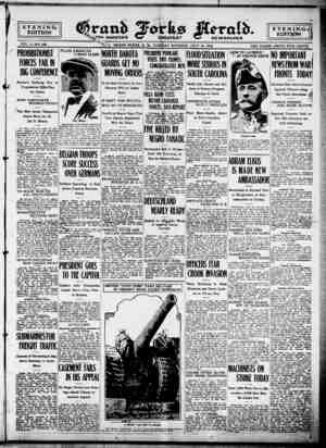Grand Forks Herald Gazetesi 18 Temmuz 1916 kapağı