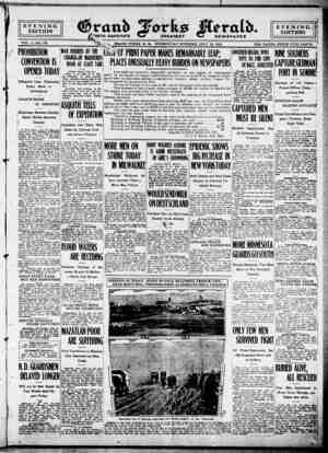 Grand Forks Herald Gazetesi 19 Temmuz 1916 kapağı