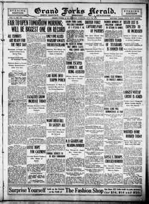 Grand Forks Herald Gazetesi 24 Temmuz 1916 kapağı