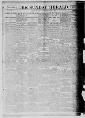 Grand Rapids Herald Gazetesi 3 Ocak 1892 kapağı