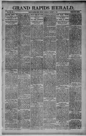 Grand Rapids Herald Gazetesi 4 Ocak 1892 kapağı