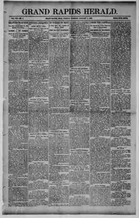 Grand Rapids Herald Gazetesi 5 Ocak 1892 kapağı