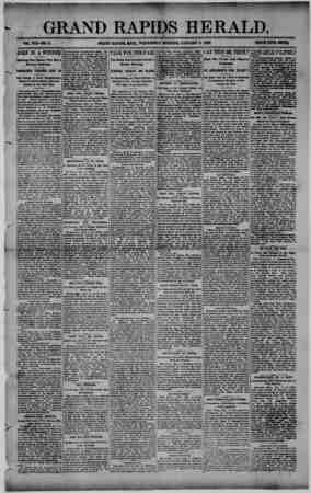 Grand Rapids Herald Gazetesi 6 Ocak 1892 kapağı