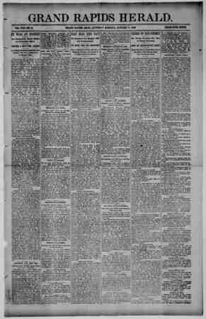 Grand Rapids Herald Gazetesi 9 Ocak 1892 kapağı