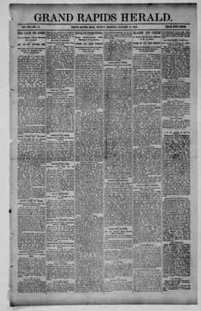 Grand Rapids Herald Gazetesi 11 Ocak 1892 kapağı