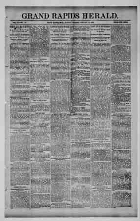 Grand Rapids Herald Gazetesi 12 Ocak 1892 kapağı