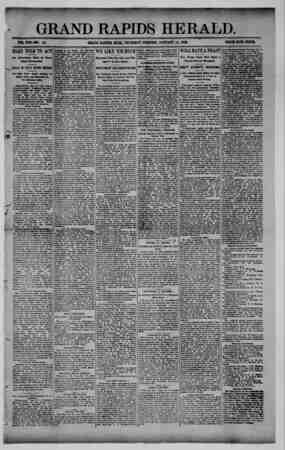 Grand Rapids Herald Gazetesi 14 Ocak 1892 kapağı