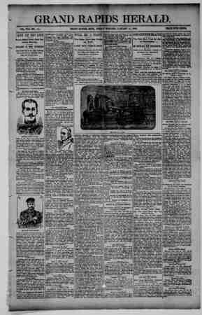 Grand Rapids Herald Gazetesi 15 Ocak 1892 kapağı