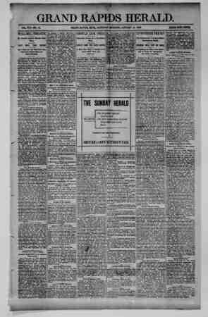 Grand Rapids Herald Gazetesi 16 Ocak 1892 kapağı
