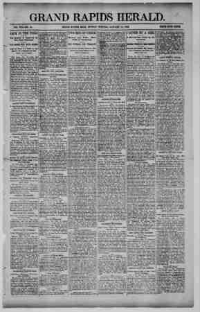 Grand Rapids Herald Gazetesi 18 Ocak 1892 kapağı