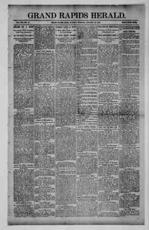 Grand Rapids Herald Gazetesi 19 Ocak 1892 kapağı