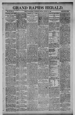 Grand Rapids Herald Gazetesi 20 Ocak 1892 kapağı