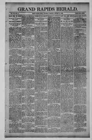 Grand Rapids Herald Gazetesi 21 Ocak 1892 kapağı