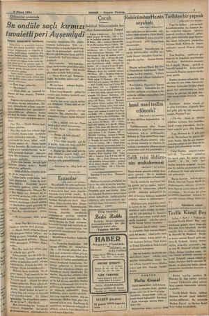 Do -. HABER — Akşam Postası enci Ö6 00 . SS Çocuk ReisicümhurHz.nin Bu ondüle saçlı kırmızı Setitesi bürzcesinde hes —...