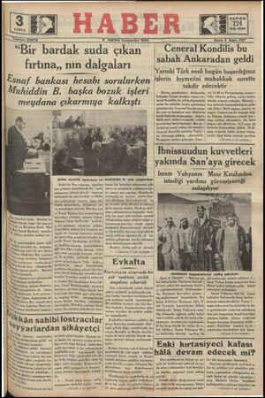 124 9-5-1934 — ——— X m — lefon 23872 Pi MAYiİS Çırşımbı 1934 - Sene 3 Sayı: 727 Ceneral Kondilis bu sabah Ankaradan geldi...