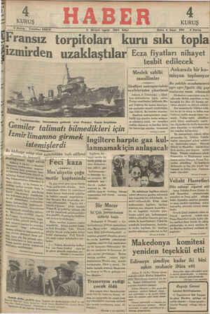 Fransız torpitoları kuru sıkı topla lemırden uzaklaştılarI Ecza fiyatları nihayet f tesbit edilecek & zt ee N Ankarada bBiriror