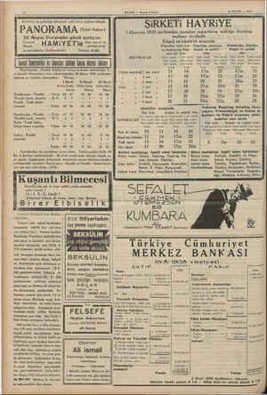 21 MAYIS — azal 4 HABER — Akşam Postasi ŞiRKETİ HAYRIYE 1 Hazıran 1935 tarihinden muteber vapurların nakliye ücretine...