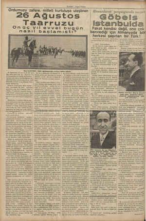 a e Ordumuzu zafere. milleti kurtuluşa ulaştıran 26 Ağustos Taarruzu | Onüç yıl evvel nası Baş kumandan 1922 a; 26...