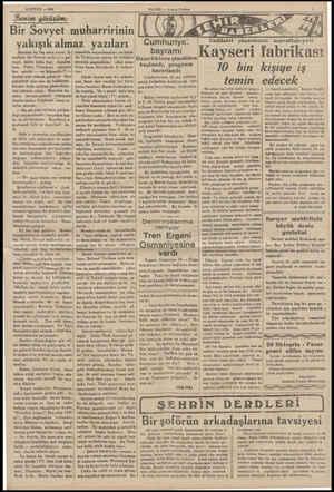"""16 EYLÜL — 1995 Benim görüşüm Bir Sovyet muharririnin yakışıkalmaz yazılari Bundan üç beş sene evvel, İs"""" tanbula bir Sovyet"""