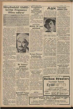 HABER — Alsam Postası Zonguldakta | Sürgündeki Abdül | Zone kerim Fransaya iltica oi 1 gi Ahdülkerimlia kendi el yazısı...