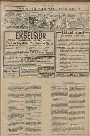 3 İLKTEŞRİN — 1985 HABER — Akşam Postası ara çay. (aga Berşeyi söy. ip Galatada -Karaköy EKSELSİOR Elbise mağazasında büyük
