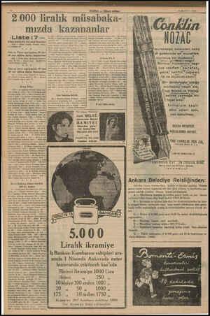 5 000 liralık müsabaka- 28 MART — 1936 mızda kazananlar -Liste:7 — Khan marka bir kol saati kazanan | 1055 — Şinasi Ötgünç
