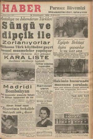 15 İkinciteşrin 1936 P A Z A RE