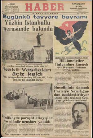 Yuzbın Istanbullu merasimde bulundu B&.. »