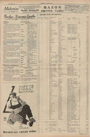 22 MAYIS 1937 Midenize Dikkat ve İYİ HAZIM ediniz. MAREA Eee. Çabuk, çiğnemeden yemek yiyenler, fazla baha» ratlı ve...