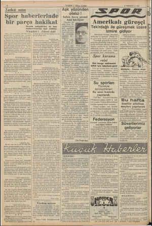 Serbest sutun Spor haberlerinde bir parça hakikat Gazete sahiplerine ve baş muharrirlerine açık mektup Yazan: Pazar günü