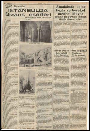 25 AĞUSTOS — 1937 Faydalı Toplamalar i İSTANBULDA Bizans 0. ia, Ayasofya, Ya Ptgy İstanbulda değil, Bi heee dünün hâkim ol