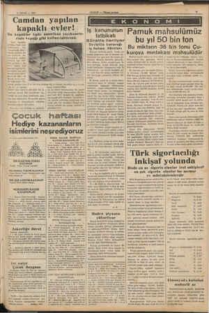 30 EYLÖÜL — 1987 Camdan yafıılan ) kapaklı evler! Bu kapaklar tıpkı amerikan yazıhanele- Yeni — inşaatta $-0 Bgittikçe...