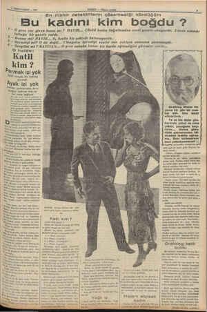 İLİKİNCİTEŞRİN — 1937 ee 3 O halde: Katil kim ? Katil kauçuk bir eldiven giymişti Ayak izi yok atilim ayaklarında, deve...