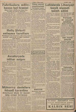 Fabrikalara müte- hassıs işçi temini Sümer Bank kurslarına ikişer lira yevmiye ile talebe alınıyor Sümerbank, senayi...