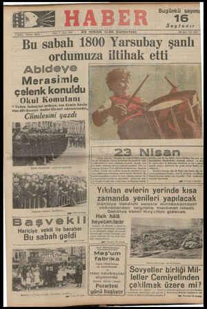 """33333333333333333333 """"Bu sabah 1800 Yarsubay şanlı ordumuza ıltıhak ettı"""