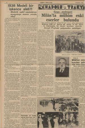 1938 Modeli bir işkence aleti!! Motörlü nakil vasıtalarını muayeneye memur zevata ithaf Her'lges, dünyayı dolaşıp ülkeler...