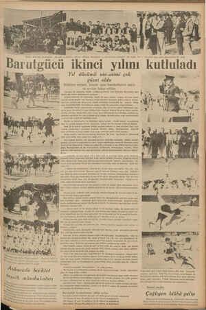 e takıyor. Ortada; Barufgüe ve İstanbulspor takımları bir arada.. Sol in Merasimi seyre gelen sporculardan bir prp...