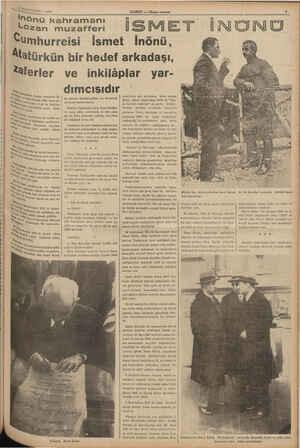 "HABER — Aksam oostan Met ti ei AD Lozan muzafferi İs- a, ""le, Miteşrin 1938 cuma gü- VVE Sang iz 11, "" Cha, tinin 140 da"