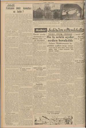 """—— ik Fransanın deniz kuvvetleri ne halde ? """"ransız bahriye nağıri Kampehşi wsani 1939 günü — Brestiş nsada ilk olarak..."""
