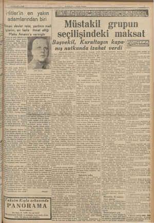 p pi! e) y il v 4HAZİRAN 1090 HABER — Alışam Postası w Hitler'in en yakın : adamlarından biri İ işlerini, en faz e Alman...